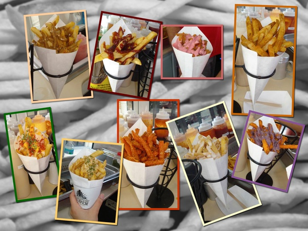 French Fry Heaven collage