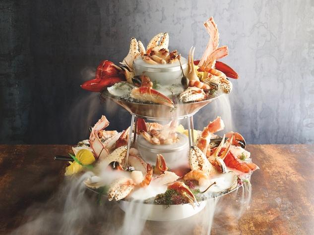 Mastro's seafood tower