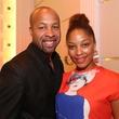 2795 Ish Johnson and Naja Taylor at the Crimson grand opening party July 2014.