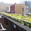 High Line elevated park in New York City aerial garden