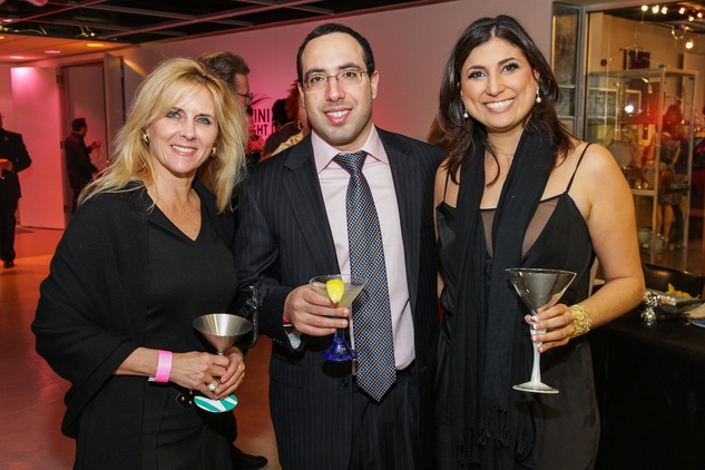 13 Michelle Mantor, from left, Dan Foty and Bianca Bucaram at Martini Madness February 2014