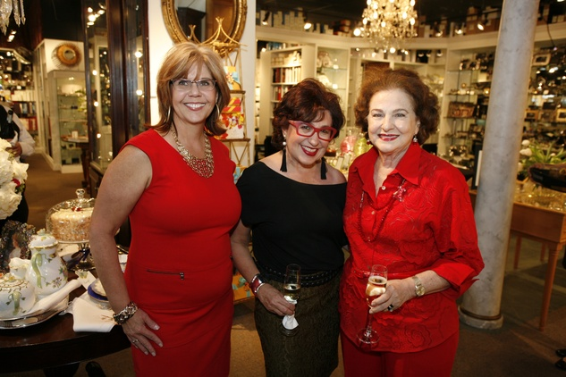 1 Linda Rhodes, from left, Roz Pactor and JoAnn Crassas at Events' Shop With Heart Card launch party April 2014