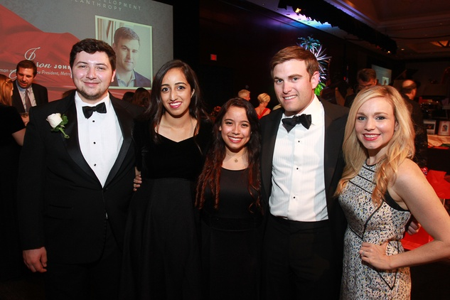 Virtuosi Gala, May 2015, Tyson Salinas, Anoosha Anupindi, & Roselyn Rios, Honorees 	Virtuosi Gala, May 2015, Jason Johnson and Stacey Johnson