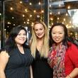 Catarina Gonzales, from left, Erica Rose and Miya Shay at Ruggles Black Grand Opening October 2014