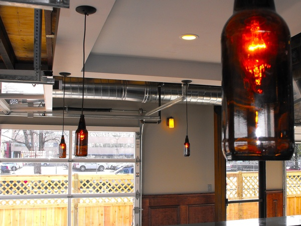 Capitol Bar in Midtown, beer bottle light fixtures