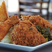 Fried chicken at Max's Wine Dive
