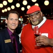 John Harvey, left, and Willie Mike at the Houston Restaurant Kick-Off Event July 2014