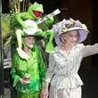 Jill Rowlett, Winner of Best of Show; Yvonne Crum, mad hatter's tea