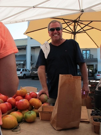 Paul Johnson at Seaside Farmers Market
