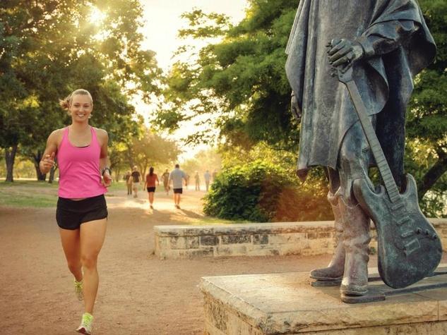 Austin runner Lady Bird Lake trail