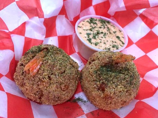 Gulf shrimp balls