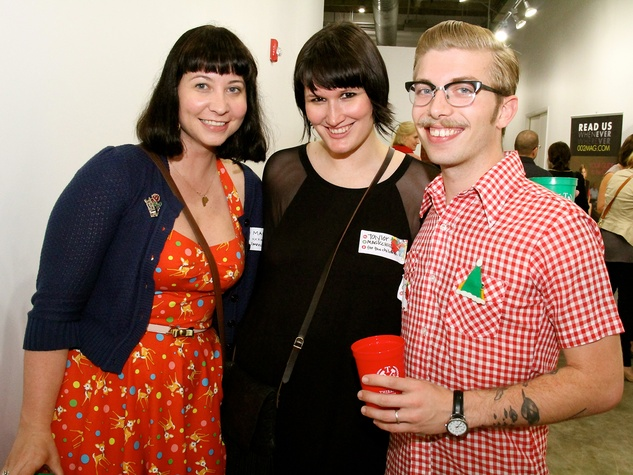 14 Maci Spica, from left, Taylor Grobelny  and Vincent Spica at the Black Sheep Agency Care-All Christmas party December 2013