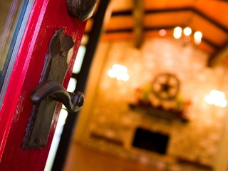 A door at the Inn at Wild Rose Hall