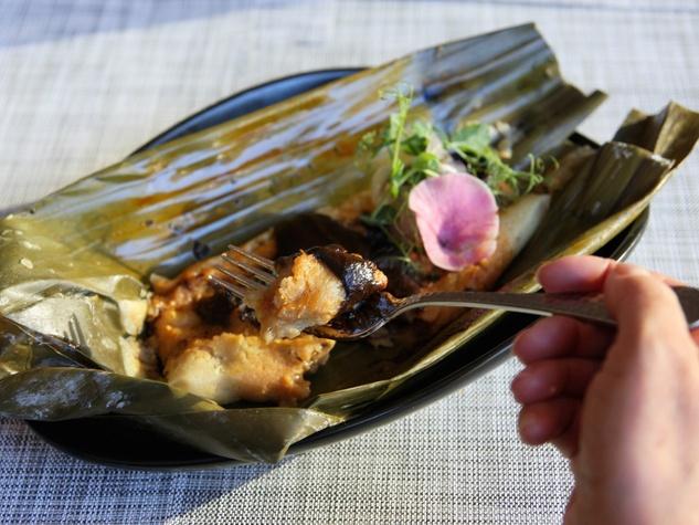 Xochi Hugo Ortega chicken mole tamale