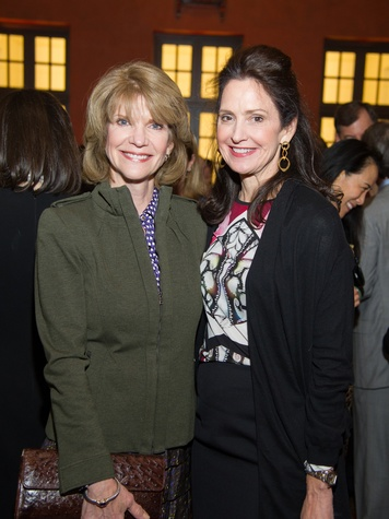 5 Kim Tutcher, left, and Laurie Morian at the Great Grown-Up Spelling Bee January 2014