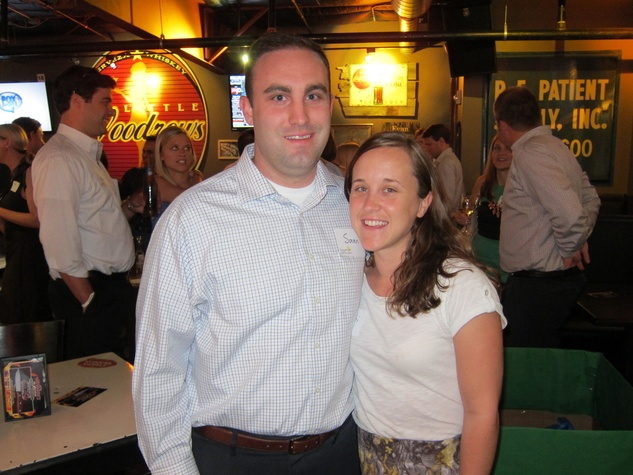 012_ Sam and Cati Rines_ at Friends of DePelchin Happy Hour at Little Woodrow's
