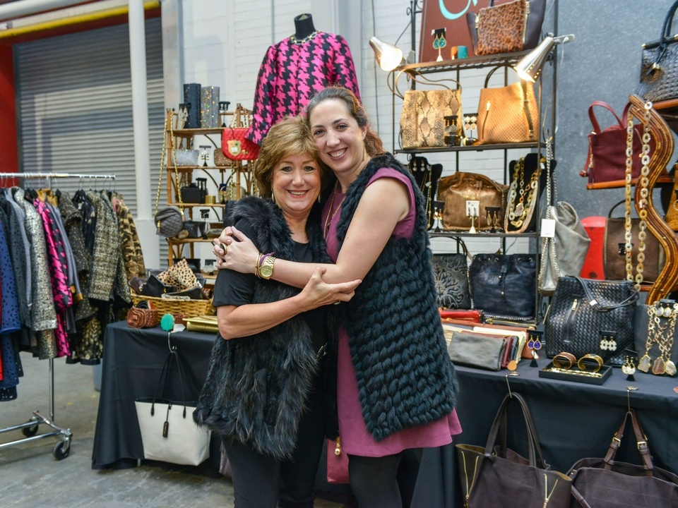 13 Susan Hancock, left, and Elizabeth Hancock at the CultureMap Pop-Up Shop December 2014