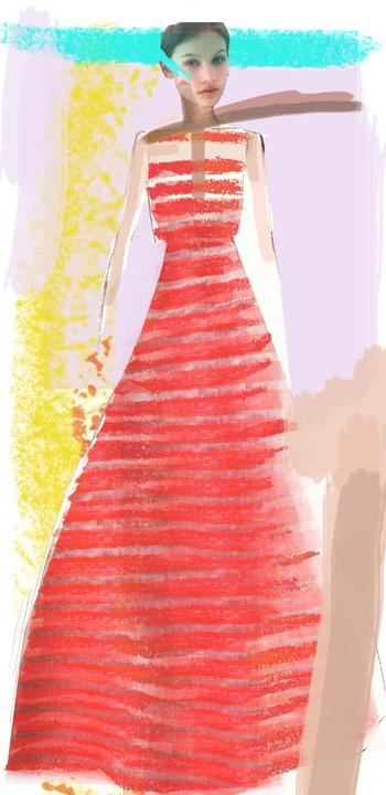 Lela Rose inspiration sketch New York Fashion Week spring 2015