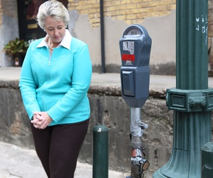 5 art parking meters Houston October 2013 Mayor Annise Parker