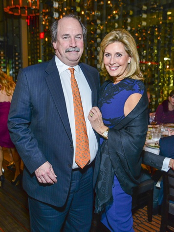 15 Steve and Linda Webster at Vallone's opening party November 2013