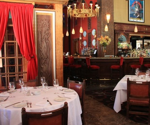 Mockingbird Bistro & Wine Bar interior with bar