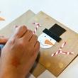 Craft station at CultureMap Holiday Pop-up Shop 2014