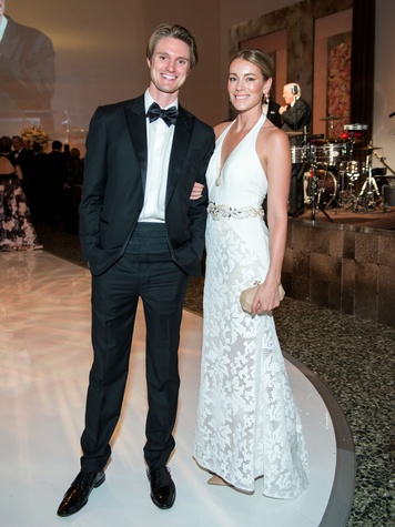Mitchell Van Hoff, Natasha Oliver at Museum of Fine Arts Gala