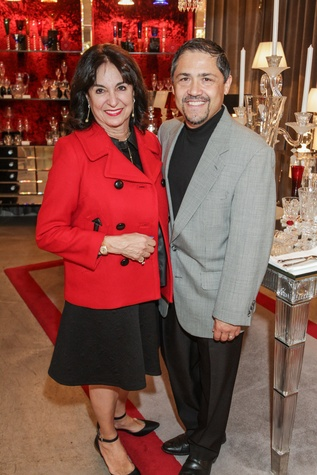 1 6418 Mady Kades and Bruce Padlla at the Baccarat anniversary party November 2014
