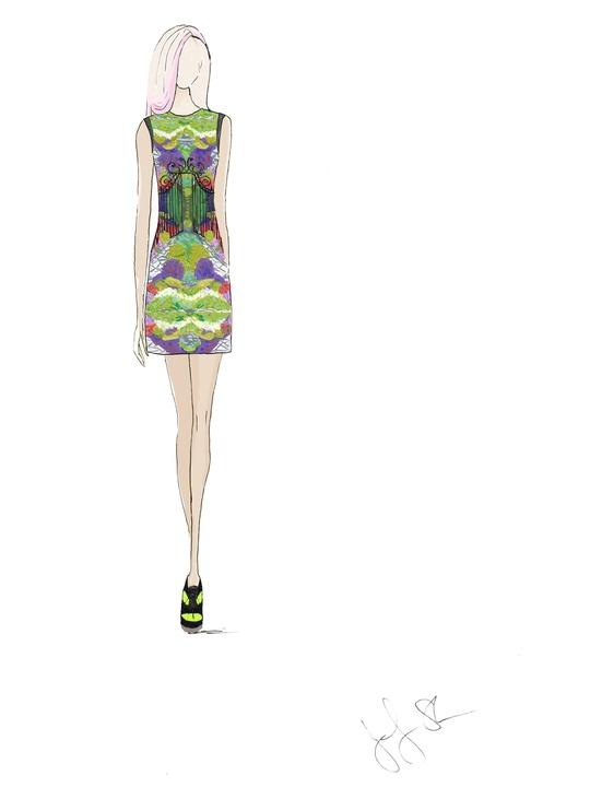 Fashion Week spring summer 2014 Emerson sketch