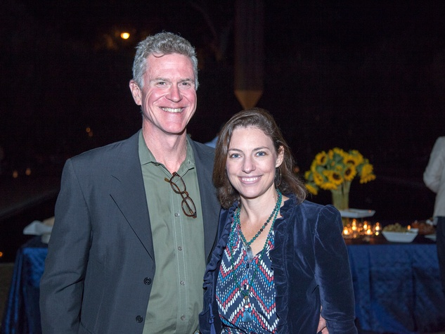 Frank Briscoe and Cullen Geiselman at Rothko Chapel's Moonrise Party on the Plaza October 2013
