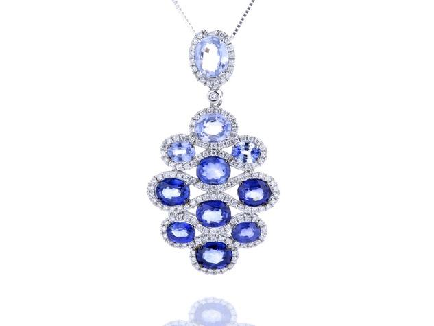 Pratiksha Madison woven sapphire ombre pendant