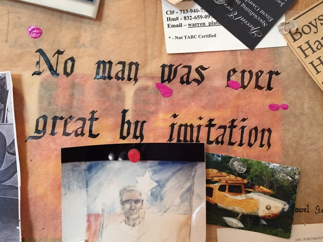 Van McFarland Houston artist December 2014 scrapboard