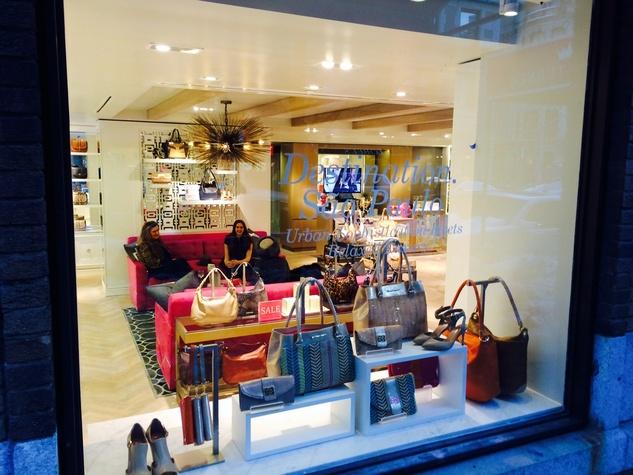 Elaine Turner New York store window