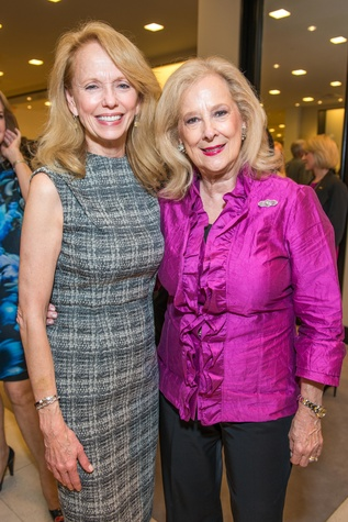 Susan Krohn, left, and Mary Ann McKeithan at the Women of Distinction announcement party October 2014