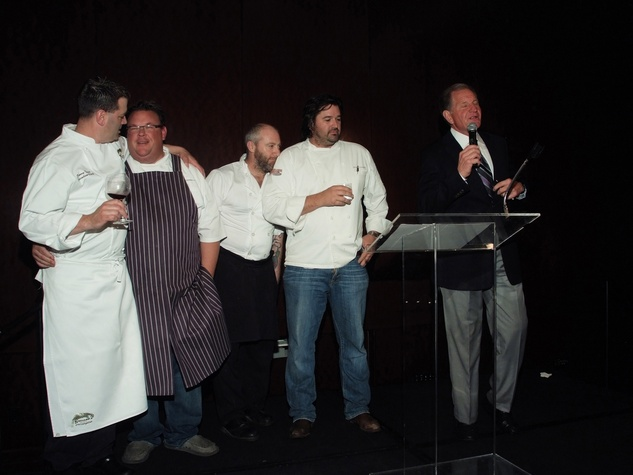 98 Danny Trace, from left, Chris Shepherd, Richard Knight, Bryan Caswell and Ralph McIngvale at the Bon Vivant Dinner January 2014