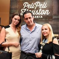 Houston, George Springer Bowling Benefit Kick Off, June 2015, Eloise Frischkorn,Luis Bauer,Carolyn Farb