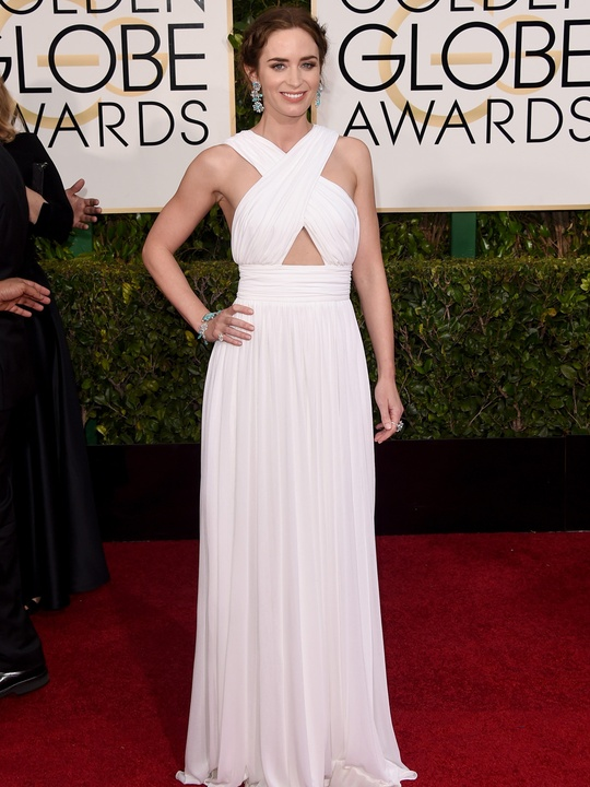Golden Globes fashion January 2015 Emily Blunt in Michael Kors