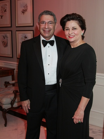 Dr. Paul Klotman and Beth Madison at the Huffington Center on Aging Gala November 2013
