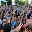 Crowd at International Peace Day Concert with Ringo Starr at John Varvatos store