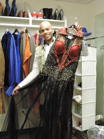 Tarra Gaines TUTS Kinky Boots Darius Harper as Lola February 2015  Harper & gown
