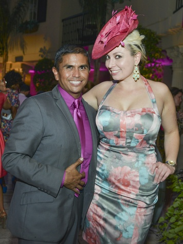 Ralph Ramirez, Lisa Hudson at Party in Pink Hotel ZaZa July 2013