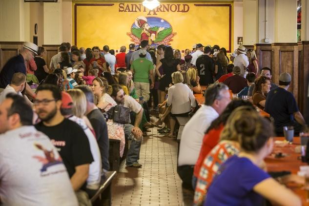 Saint Arnold Brewing Company tour hall