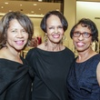 Merele Yarborough, from left, Gayla Gardner and Sharon Owens at the Women of Distinction announcement party October 2014
