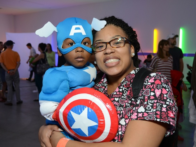 9 Zhyriad Simpson and Jocelyn Simpson at The Menil Collection Halloween party October 2013