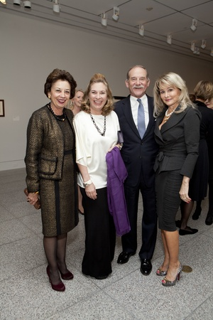 Picasso Black and White opening dinner, February 2013, Kathy Goossen, Nancy Abendshein, Marty Goossen, Michelle Hevrdejs