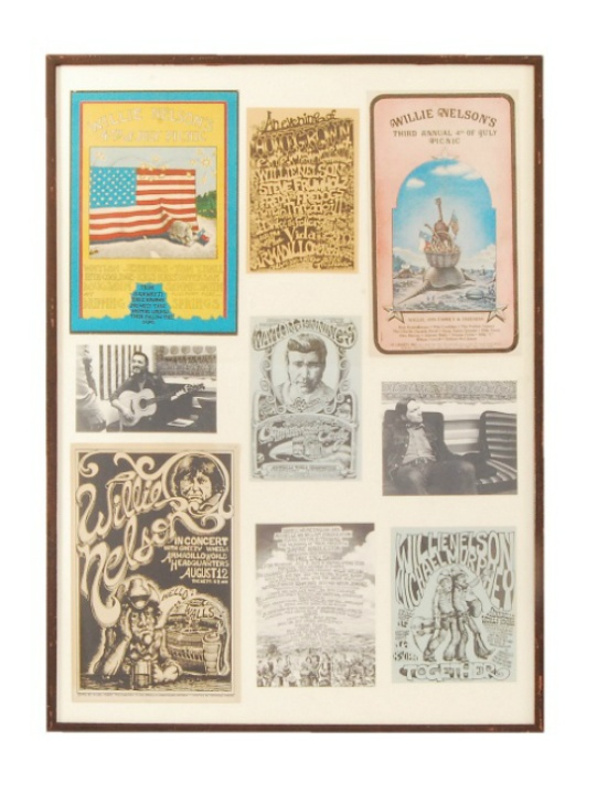 Eddie Wilson_Armadillo World Headquarters_Threadgill's_auction_Burley Auction Gallery_Willie Nelson posters
