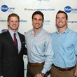 Micah Renfro, from left, Emilio Andres Palafox and Ethan Etzel at Blue Cure Young Professionals February 2014