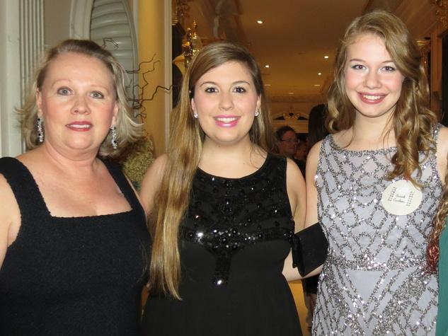 Amanda and Hayley Waring with Sarah Carlsen, DSOL debs holiday festivities
