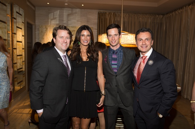 1 Michael and Melissa Mithoff, from left, Henry Richardson and Monsour Taghdisi at the Houston Ballet kick-of party October 2014