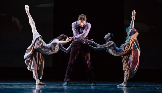 Houston Ballet Four Premieres September 2013 Intimate Pages with Ian Casady, Elise Judson, Emily Bowen choreographed by Christopher Bruce